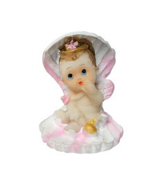 İstiridye İçinde Bebek Pembe Biblo 20 Adet - Thumbnail