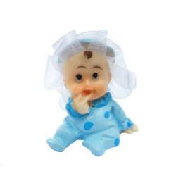 - Tüllü Bebek Mavi Biblo