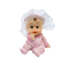 Tüllü Bebek Pembe Biblo
