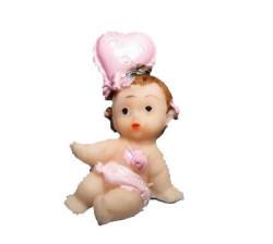 - Kalp Üstünde Bebek Pembe Biblo 50 Adet