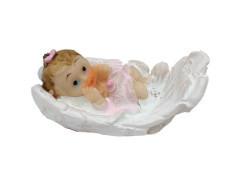Kanat İçinde Bebek Pembe Biblo 20 Adet - Thumbnail
