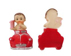 - Kırmızı Woswoslu Bebek Pembe Biblo