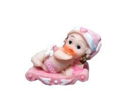 Kızakta Bebek Pembe Biblo