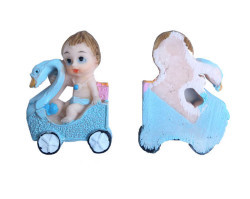 Kuğulu Bebek Mavi Biblo - Thumbnail