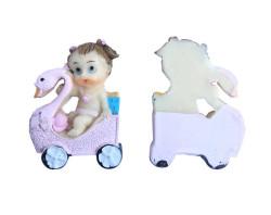 - Kuğulu Bebek Pembe Biblo