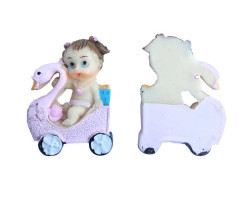 Kuğulu Bebek Pembe Biblo - Thumbnail