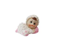 - Kuzu Kostümlü Bebek Pembe Biblo