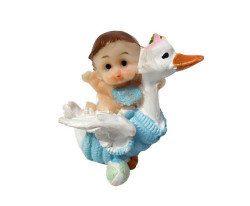 - Leyleğin Üstünde Bebek Mavi Biblo