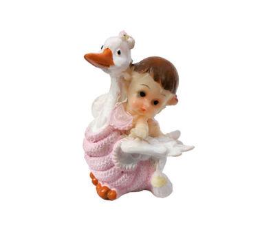 Leyleğin Üstünde Bebek Pembe Biblo
