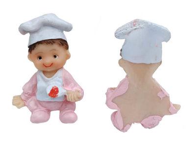 Mama Önlüklü Bebek Pembe Biblo