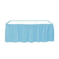 - Bebek Mavisi Plastik Masa Eteği (75x426 cm) 1'li Paket