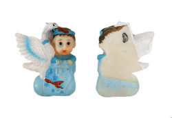 Patik İçinde Bebek Mavi Biblo - Thumbnail