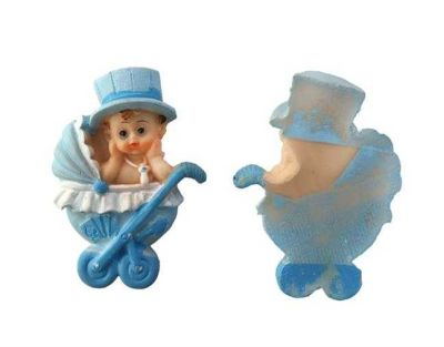 Pusetli Şapkalı Bebek Mavi