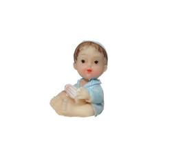 - Şapkalı Bebek Mavi Biblo