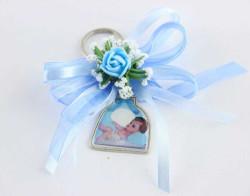 - Süslü Anahtarlık Bebek Şekeri Fiyonklu Mavi 50'li Pk.