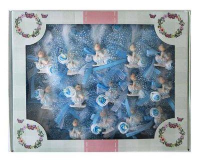 Bebek Şekeri Süslü Atlı Kızakta Mavi 50'li