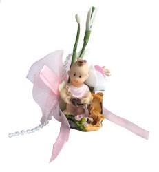 - Bahçede Bebek Pembe Süslü Bebek Şekeri