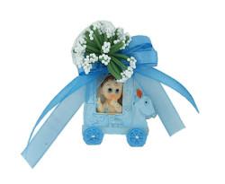 - Faytonda Mavi Süslü Bebek Şekeri 50'li Paket