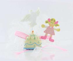 - Çocuk Pastalı Süslü Pembe Bebek Şekeri