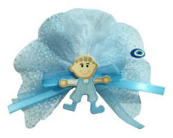 - Çocuk Sticker Ahşap Mavi Bebek Şekeri