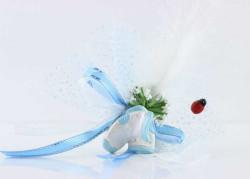 - Çorap Medeli Süslü Çiftli Mavi Bebek Şekeri