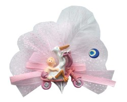 - Leylekli Bisikletli Pembe Bebek Şekeri 50'li Paket