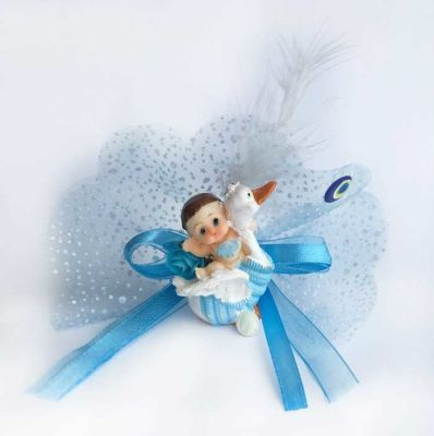 Ördek Üstünde Mavi Kutulıu Bebek Şekeri