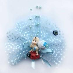 - Uğur Böceği Üstünde Mavi Bebek Şekeri 50'li Paket