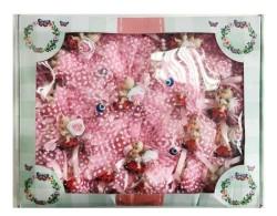 Uğur Böceği Üstünde Pembe Bebek Şekeri 50'li Paket - Thumbnail