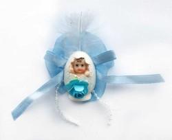 - Yumurta İçinde Mavi Bebek Şekeri 50'li Paket