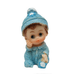 Oturan Simli Bebek Mavi Biblo - Thumbnail