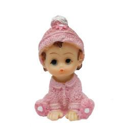 Oturan Simli Bebek Pembe Biblo - Thumbnail