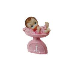 Tartılıyor Bebek Pembe Biblo