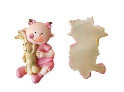 - Tavşanlı Bebek Pembe Biblo