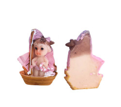 - Teknede Bebek Pembe Biblo