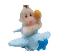 Uçaklı Bebek Mavi Biblo 20 Ad.