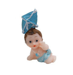 Ucurtmalı Bebek Mavi Biblo