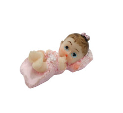 - Yastıklı Bebek Pembe Biblo