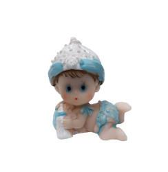Yastıklı Ve Biborunlu Bebek Biblo - Thumbnail