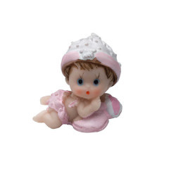 Yastıklı Ve Toplu Bebek Biblo - Thumbnail