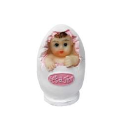 - Yumurtalı Bebek Pembe Biblo 20 Ad.