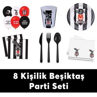 Beşiktaş Doğum Günü Seti Eko Set 8 Kişilik