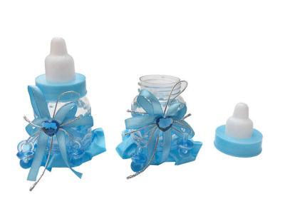 Mavi Süslü Şeffaf Biberon
