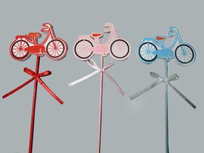 Çubuklu Mavi Bisiklet