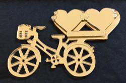 - Kalpli Bisiklet Pleksi Altın