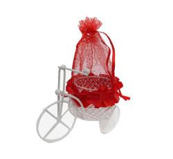 Sepetli Kırmızı Keseli Bisiklet - Thumbnail