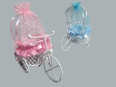 Sepetli Mavi Keseli Bisiklet