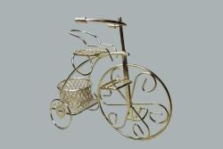 Sepetli Tel Bisiklet Altın - Thumbnail