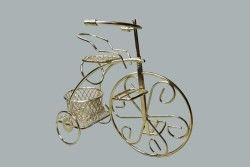 Sepetli Tel Bisiklet Altın
