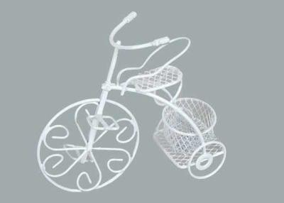 Sepetli Tel Bisiklet Beyaz